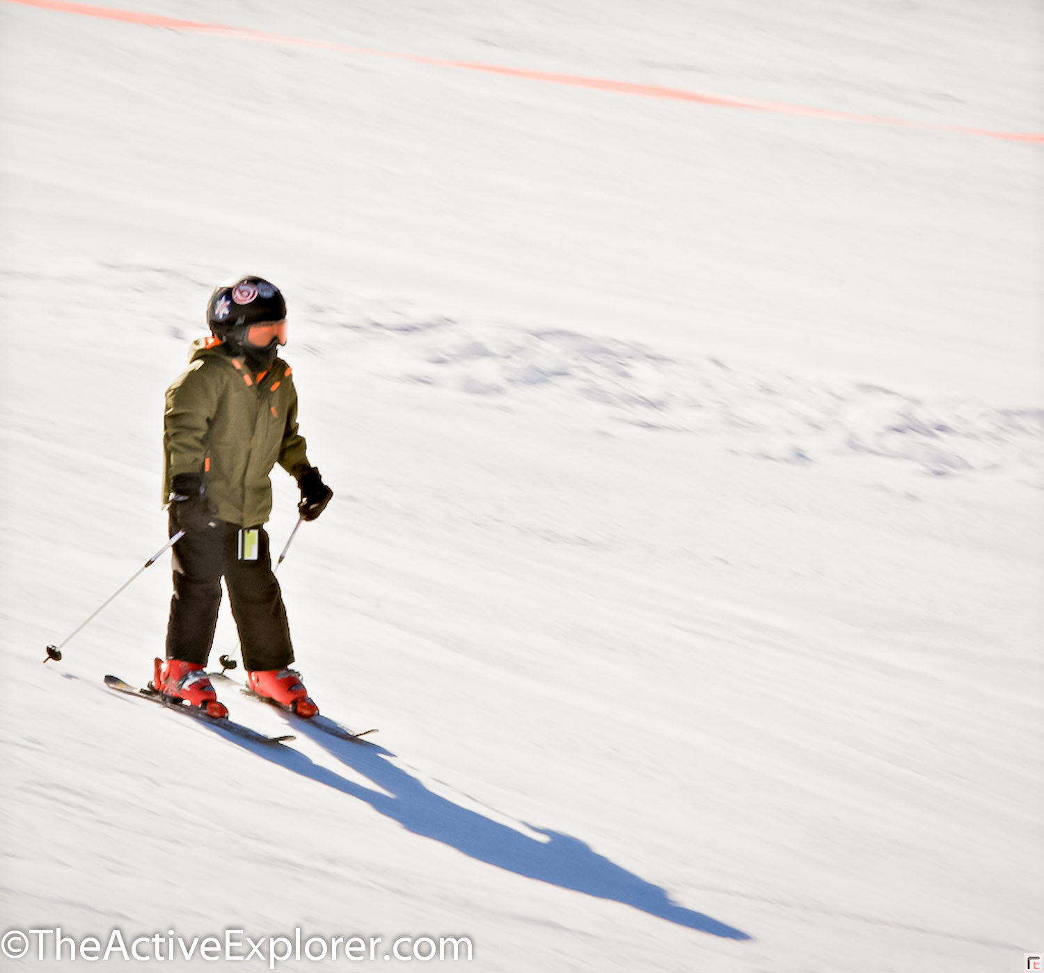 Little skier at Brighton