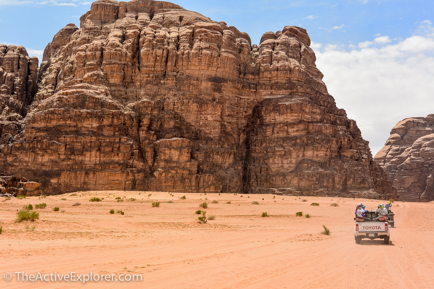 Riding to camp in Wadi Rum